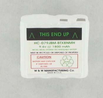Ritron BPX8N 9.6V 1600mAH Ni-CD Replacement Two Way Radio Battery by Tank Brand