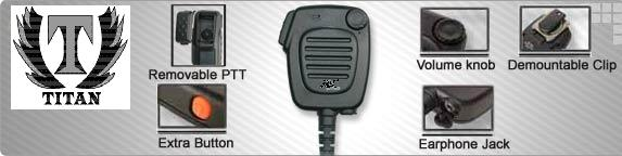 Tank Brand  Brand-- Hand held Shoulder Mic Speaker For Yaesu/Vertex Standard Radio VX820 VX821