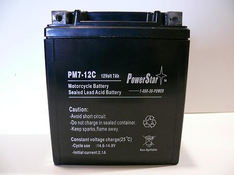 PowerStar YTX7L-BS Motorcycle battery