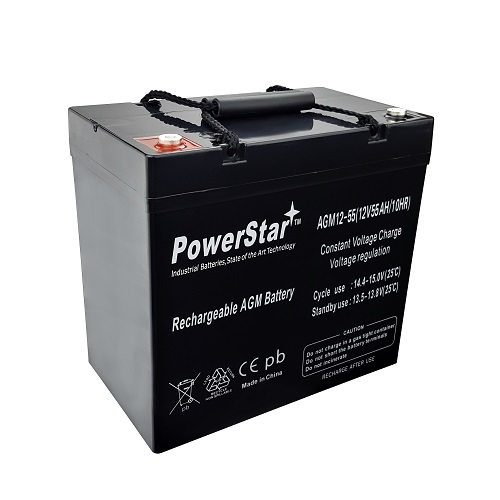 12V 55Ah PRIDE 600 JAZZY 1105 1107 1115 Wheelchair Scooter Battery