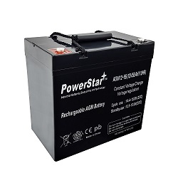 8e106cb136 PowerStar 12V 55ah insert terminal SLA Battery