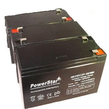 3X 12V 7.5AH Sealed Lead Acid RBC53 (SLA) Battery - Fits ZB-12-7.5