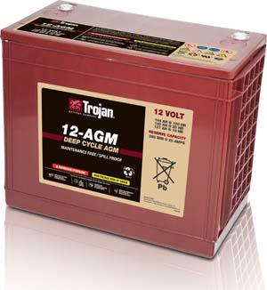 Trojan 12-AGM Marine/RV AGM Dual Series 12V Battery