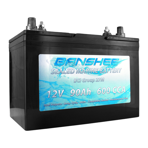 Deep Cycle Sealed AGM Marine Battery Group 27