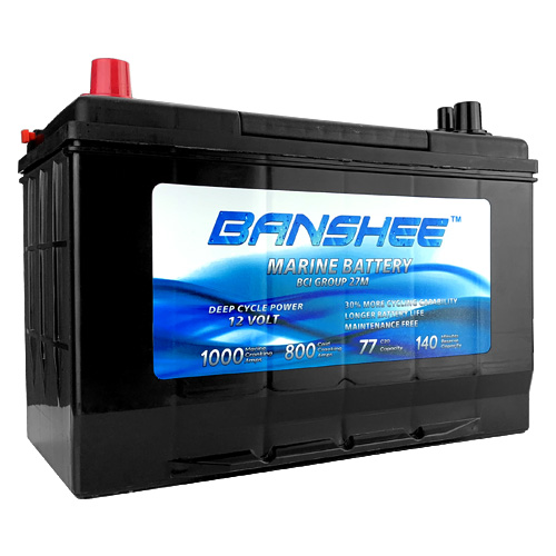 12 Volt Group 27 Deep Cycle Marine Battery Replaces Optima D27M 8027-127