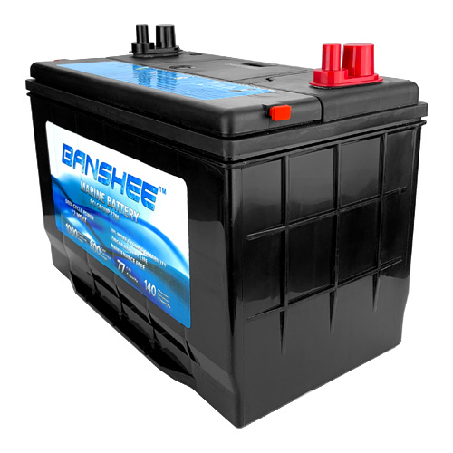 Group 27 Deep Cycle Battery, Dual Purpose Marine Battery