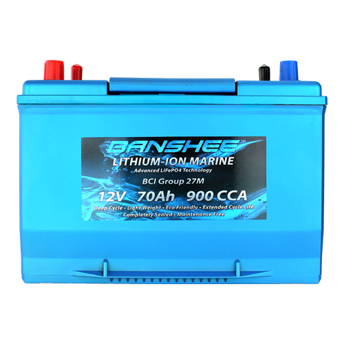 Lithium Deep Cycle Marine Battery Replaces Optima D27M 8027-127 Group 27