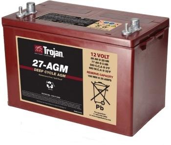 Trojan 27-AGM Marine/RV AGM Dual Series 12V Battery
