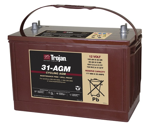 Trojan 31-AGM Marine/RV AGM Dual Series 12V Battery