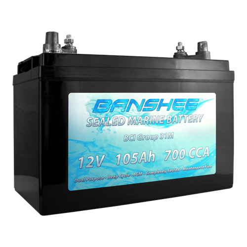 Deep Cycle Sealed AGM Marine Battery Group 31