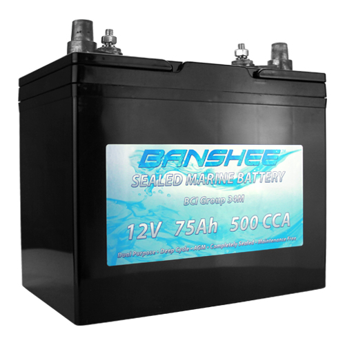 Deep Cycle Sealed AGM Marine Battery Group 34