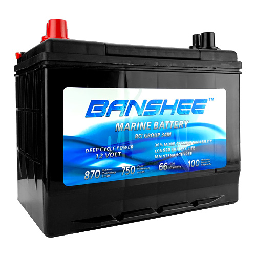 12 Volt Marine Battery, Replaces SC34DM Optima Battery