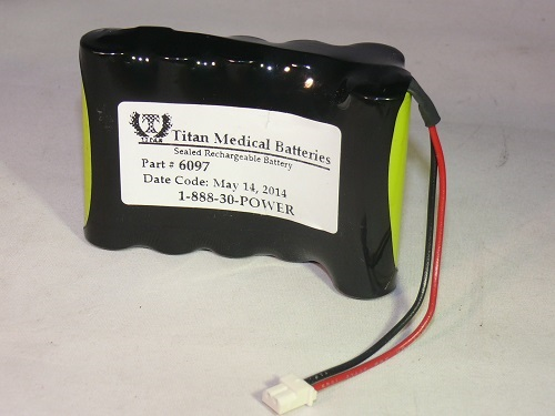 Battery for Heska Vet IV Infusion Pump 7.2 Volt 1.1Ah NiCd by Tank
