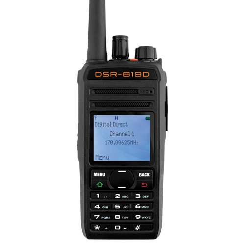UHF 256 Channel DPMR Digital Walkie Talkie FRS/GMRS DSR 2-Way Radio w/ Scan