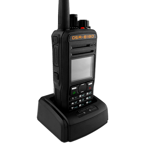 Fully Programmable DCS/CTCSS, DSR Dual Band 16 Channel UHF DPMR Two-Way Radio 4