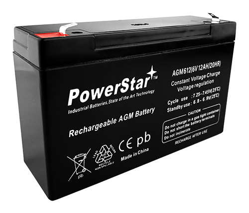 6V 12AH SLA Battery Replaces NP10-6 NP12-6 PE6V10 PE6V12