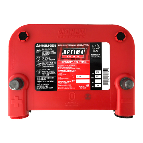 Optima Batteries 8022-091 75/25 RedTop Starting Battery per ea 3