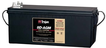 Trojan 8D-AGM Marine/RV AGM Dual Series 12V Battery
