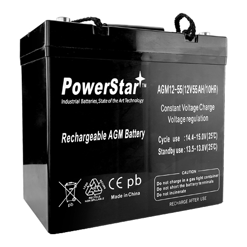 12V 55Ah Scooter Battery UB12550 Group 22NF for Powersonic