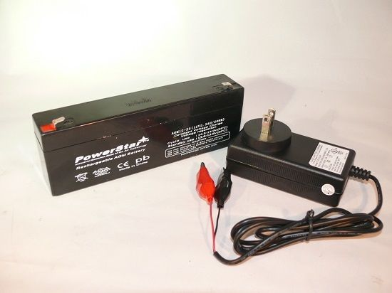 12V 2.3Ah NP2.3-12 BP2.3-12 GP GH1222 Battery and Charger Combo