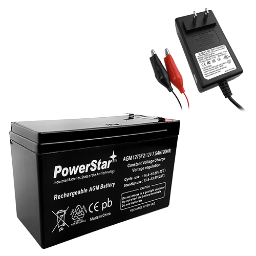 12v 7ah UPS Battery replaces 7ah Enduring CB7-12, CB-7-12 and CHARGER