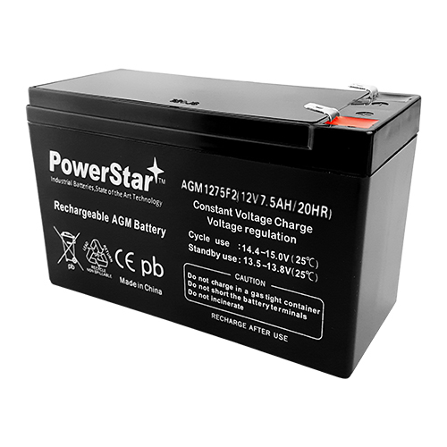 RBC2 12V 7.5AH SLA Battery for RBC 2 Home Security Alarm Replaces ACME 621-26 ADI PWP1270 1