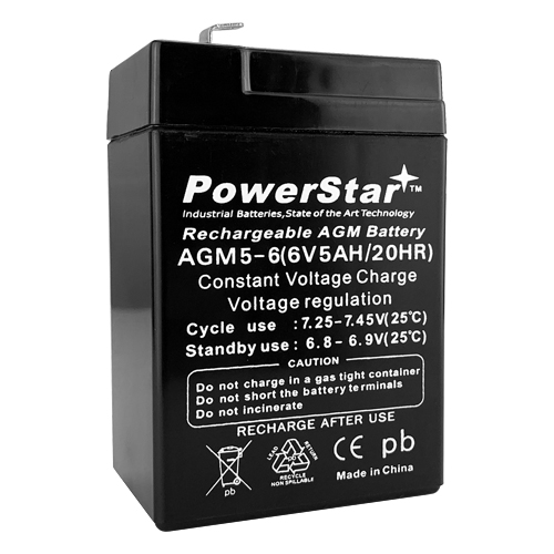 6V 4.5 Ah Battery for APC RBC1