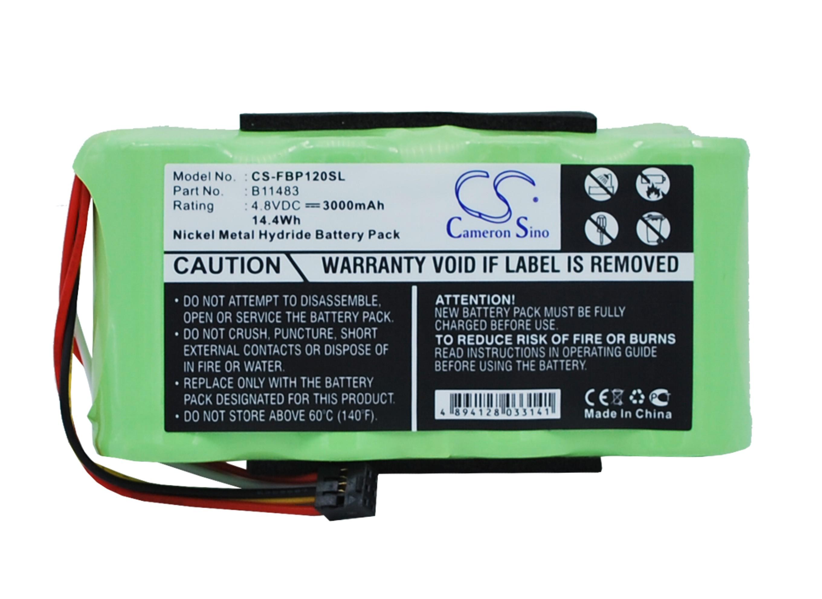 3000mAh Extended Battery Works with FLUKE 120 123 124 125 Scopemeter Test Tool, 43 43B Power Quality Analyzers B11483 BP120 BP130