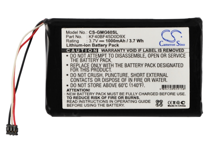 KF40BF45D0D9X Replacement Battery for Garmin Approach G6 Pocket-Sized Golf GPS