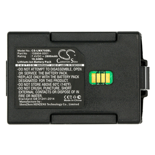 Banshee Battery for Honeywell LXE MX7 Scanner 2600mAh Li-Ion