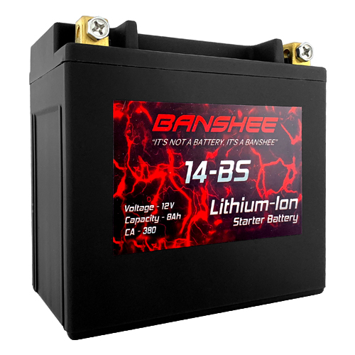 YTX14-BS Lithium ion Battery Replaces Walmart Motorcycle Battery