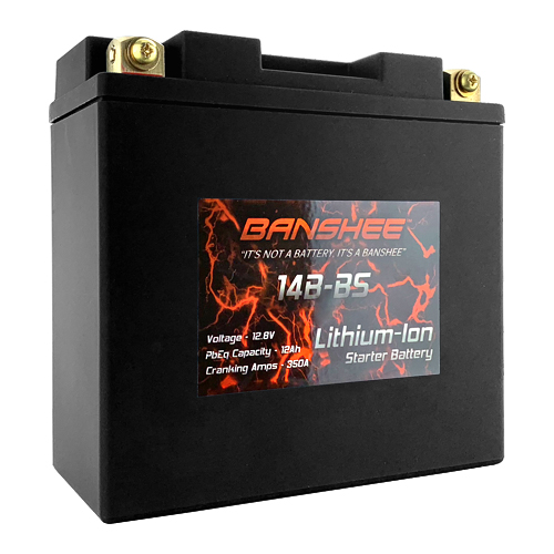 Lithium Ion 14B-BS Sealed Motorcycle Battery