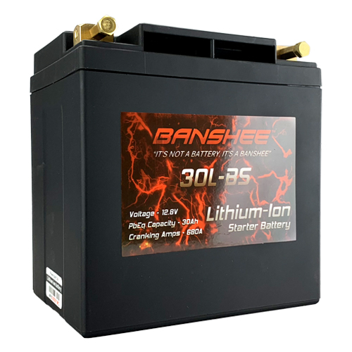 Lithium Ion 30L-BS Sealed Starter Motorcycle Battery