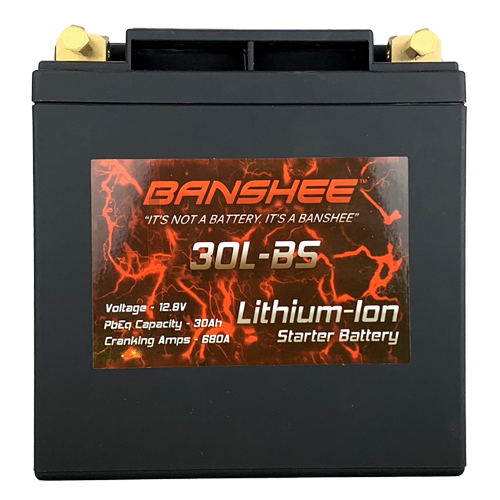 Lithium LiFePO4 30L-BS Sealed Starter Motorcycle Battery