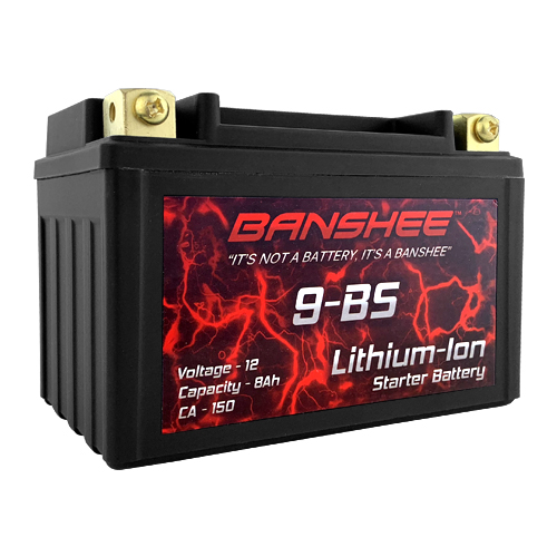 9-BS Lithium Ion Motorcycle Battery fits Suzuki Bandit GSF400, GSF600S, GSX-R600
