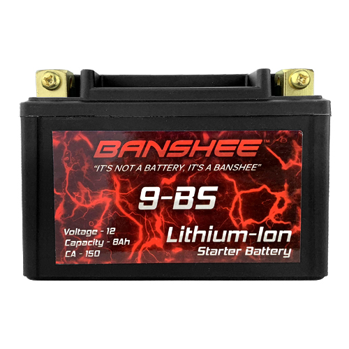 Lithium Ion 9-BS Sealed Motorcycle Starter Battery