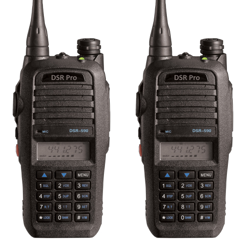 2 Pack Two Way Radios for Security - 5 Watt 450-520MHZ - 128CH - 2 YEAR WARRANTY