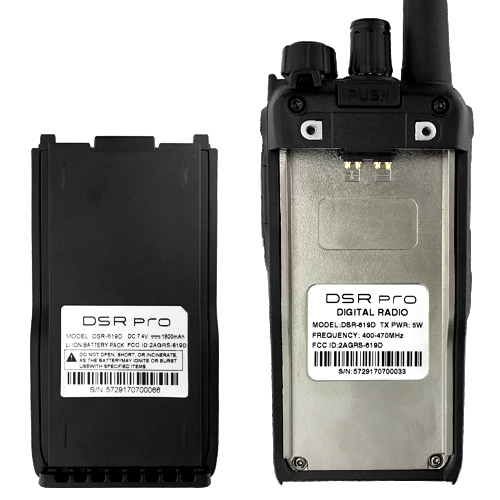 Fully Programmable DCS/CTCSS, DSR Dual Band 16 Channel UHF DPMR Two-Way Radio 2