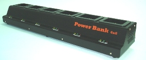 Teklogix 7535 Scanner Battery Charger-Six Station By Tank Brand