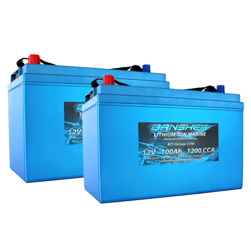 Banshee 24V Lithium Deep Cycle Marine Battery Group 31 - 2 Pack