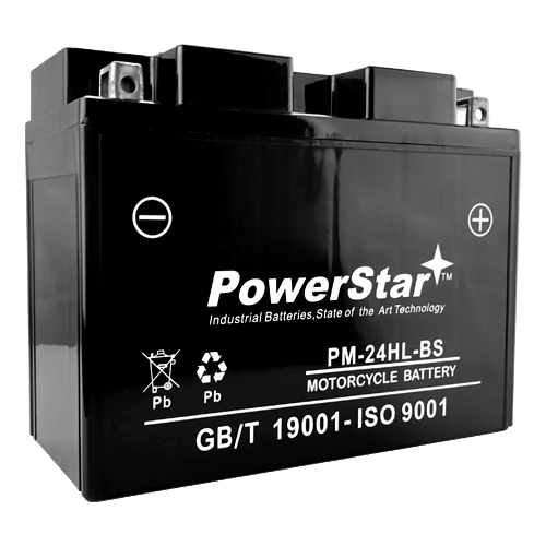 PowerStar PM24HL-BS Motorcycle Battery for Harley 66010-82B