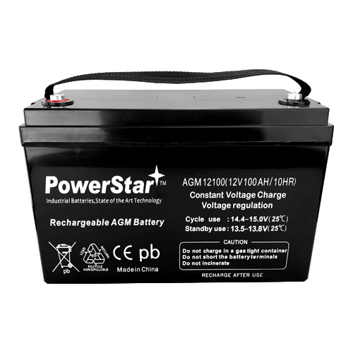 PowerStar® 12V 100Ah Group 27 SLA Rechargeable Battery INSERT TERMINALS 1
