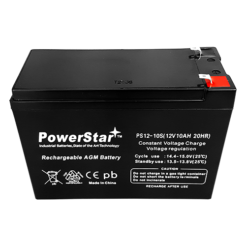 PowerStar 12v 10ah Slim battery for Scooters and Electric Bikes  2