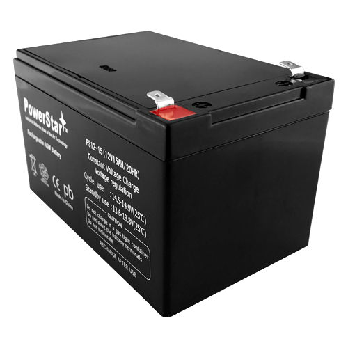PowerStar®12V 15Ah F2 Scooter Bike Battery Replaces 14Ah Ritar RT12140EV 2