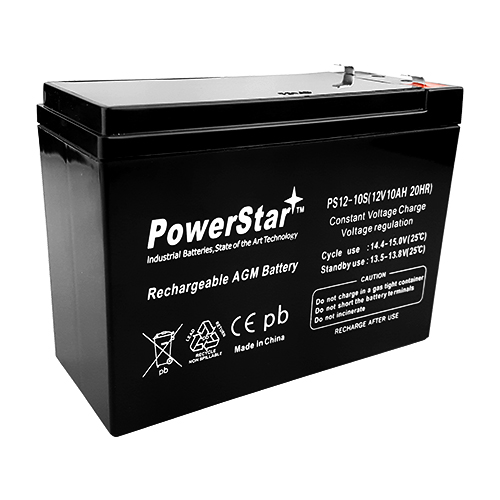 SLA, 12V 10Ah Slim PowerStar Battery for Mongoose M200