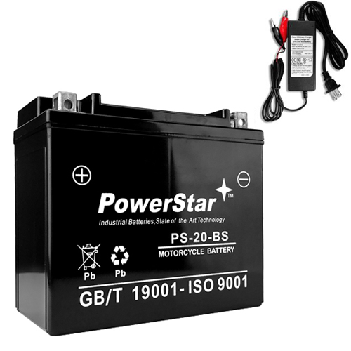 YTX20-BS Battery/CHARGER for HARLEY-DAVIDSON FX/FXR Series 1340CC 79-'94