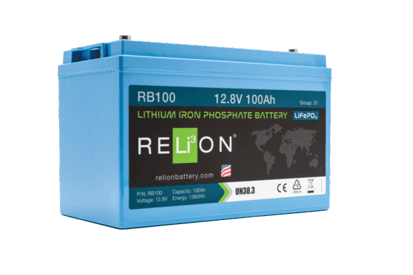 RELiON RB100 12V 100Ah Deep Cycle Lithium LiFePO4 Battery