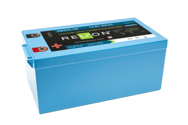 RELiON RB300-HP 12V 300Ah Deep Cycle Lithium LiFePO4 Battery