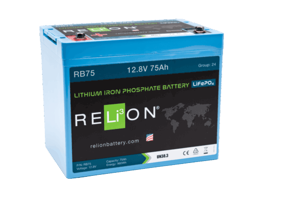 RELiON RB75 12V 75Ah Deep Cycle Lithium LiFePO4 Battery