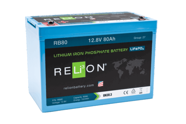 RELiON RB80 12V 80Ah Deep Cycle Lithium LiFePO4 Battery